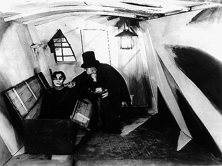 german expressionist style in the cabinet of dr caligari essay Quiz 2: german expressionism  -director of the cabinet of dr caligari -1920  -caligari introduces basic formal elements that defined the expressionist style.
